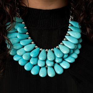 ✨Zi Collection 3 Layered Turquoise Necklace✨